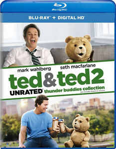 Ted and Ted 2 Unrated combo pack Blu-Ray (NEW!)