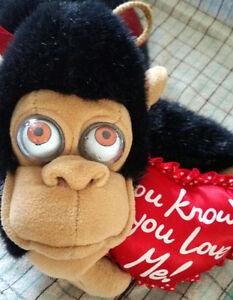 You know you love me - monkey vintage toy