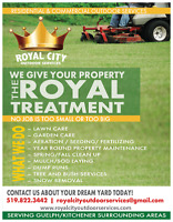 Property Maintenance. Lawn Care, Spring Clean Up. Sod. Mulch