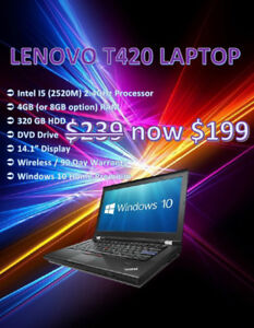 Summer Laptop Sale Blow Out - Dell / Lenovo / HP - Only $199!