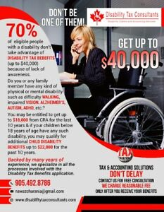 DISABILITY TAX BENEFITS UP TO $40,000