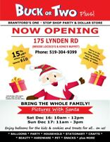 Santa is coming to Buck or Two Brantford!