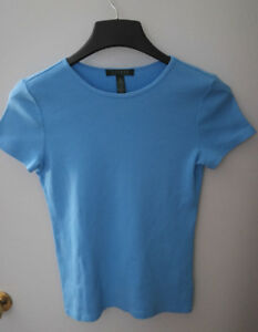 Ralph Lauren Women light blue short sleeve top side size small