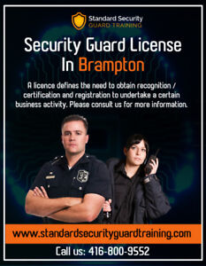 Standard Security Guard Offers Security Guard License Brampton