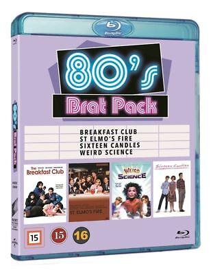 80s Brat Pack - 4 Movie Blu-Ray Set NEW Breakfast Club Sixteen Candles & more
