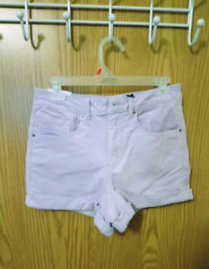 High-waisted lavender corduroy shorts from Forever 21
