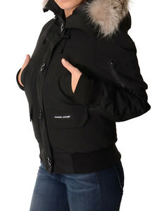 Women's Genuine Canada Goose Black Chilliwack Bomber - Like NEW