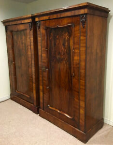 Antique Wardrobes (Hungary) -- one for hanging, one with shelves