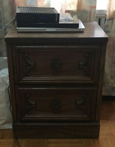 Urgent Sale!! $80 Wooden Night Stand / Bedside Table