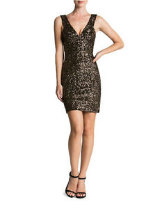 Dress The Population - 'Sam' Plunge Sequin Body-Con Dress