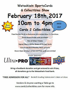 Sports Cards & Collectibles Show Edmonton Oilers Ticket Giveaway