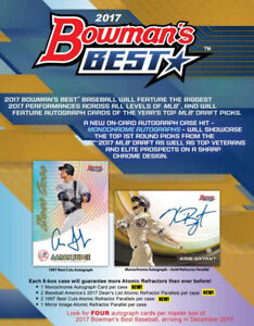 2017 Bowman's Best Baseball Available Wednesday @ Breakaway
