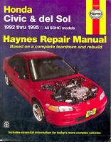 Livre: Haynes Repair Manual Honda Civic & del Sol