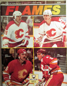1987 Calgary Flames/Minnesota North Stars Program