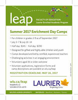 Volunteer with LEAP's Summer Enrichment Programming!