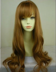 Wavy Strawberry Ginger Blonde Lady Wigs