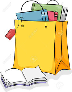 Grocery Bag full of Hardcover/ Softcover Books for Adults