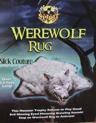 WEREWOLF RUG Spirit Halloween Life Size Prop GROWLS HOWLS Glow Eyes SALE PRICE! - Halloween Werewolf Eyes