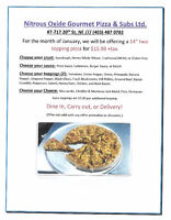 """January Special - 14"""" Two Topping Pizza"""