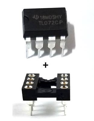 10pcs Texas Instruments Tl072cp Sockets - Low Noise Jfet Dual Op-amp Dip-8 Ic