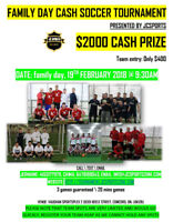 Family Day 2018 Indoor Soccer Tournament - 2000 Cash