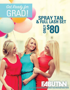 Spray Tan and Eyelash Extension Grad Special!!!