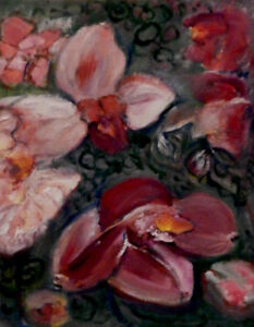 """January Orchids"", oil painting"