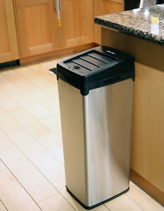 iTouchless Stainless Steel Sensor Touchless Trash Can