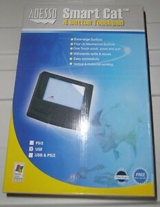 Brand New-Adesso Smart Cat 4 Button Glidepoint USB Touchpad
