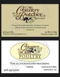 Custom Butchery/Custom Poultry Processing