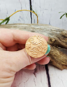 Handcrafted Textured Pure Copper Boho Statement Ring
