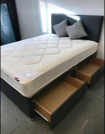 AFFORDABLE NEW DIVAN BEDS FOR SALE ALL SIZES AVAILABLE SINGLE