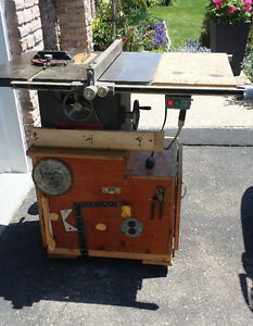 Beaver Table Saw with Cabinet & 1-1/2 HP motor
