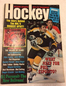 Vintage Action Sports Hockey Magazine - 1971-72 Preview