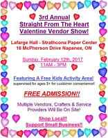 3rd Annual Straight From The Heart Valentine Vendor Show!