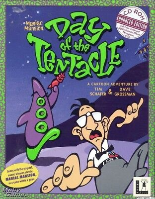 MANIAC MANSION DAY OF THE TENTACLE 1993 +1Clk Windows 10 8 7 Vista XP Install