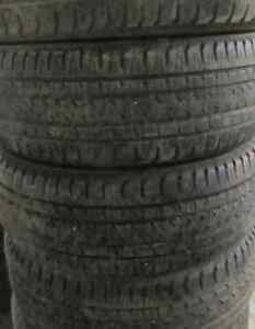 4 Tires sized 255.60.19 at 70-85% Tread left on them