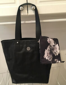 BRAND NEW Lulu Lemon Leather Gym Bag with Drawstring Bag