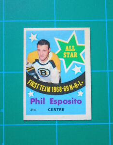 Phil Esposito 1969 vintage hockey card
