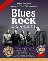 #1 blues band in Canada is performing at the #1 BC winery!