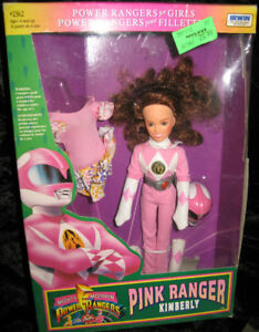 1994 Mighty Morphin Power Rangers Pink Ranger Doll