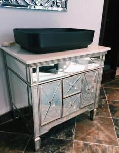 BEAUTIFUL MIRRORED BATHROOM VANITY / CABINET - WHOLE SET - PROMO PRICE ONLY $399 !! - WE DESIGN BATHROOMS