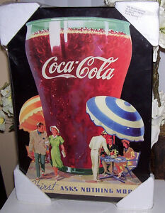 Coca Cola Thirst Asks Nothing More Print on Laminated MDF Board London Ontario image 1
