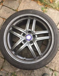 Mercedes Benz wheel mags and all season tire package