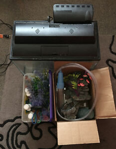 10 gallon fish tank with accessories