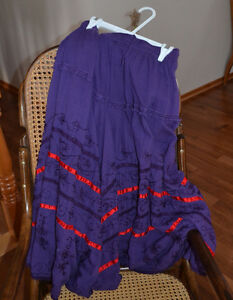 Pretty purple and red skirt