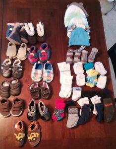 Baby shoes, socks, misc. 3-9 months