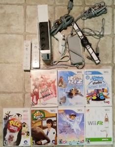 Console Wii et plusieurs jeux