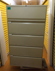 5 Drawer Lateral File Cabinets  and Classuers Available Kitchener / Waterloo Kitchener Area image 3