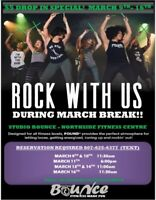 MARCH BREAK SPECIAL ON GROUP FITNESS CLASSES! $5 DROP IN!